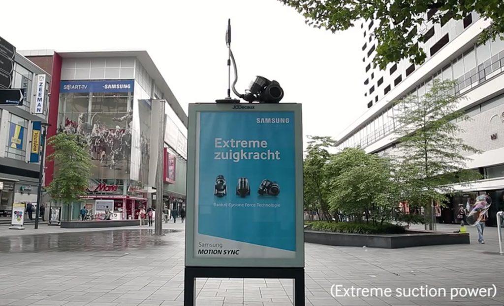 Samsung – Advertising met enorme zuigkracht